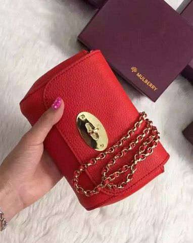 2015 Cheap Mulberry Mini Lily red Small Classic Grain | Mulberry ...