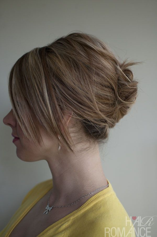 Easy french updo roll tutorial. Great hair style for at work especially if you have to wear a franchise visor.