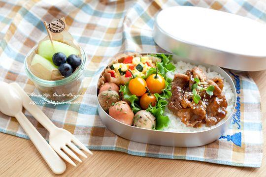 豚肉の照り焼き丼弁当♪ | あ~るママオフィシャルブログ「毎日がお弁当日和♪」Powered by Ameba