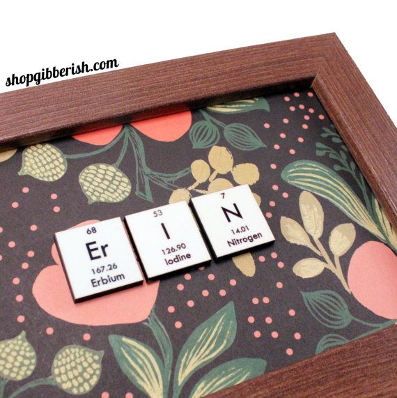 261 best gifts for nerds and geeks images on pinterest baby i heart nerds science name sign plaque chemistry periodic table of elements periodic table name custom gift idea urtaz Image collections