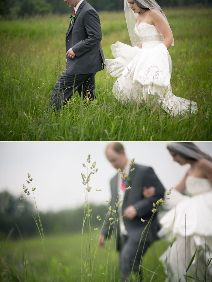 Love how the grass is the focus and the couple is blurry