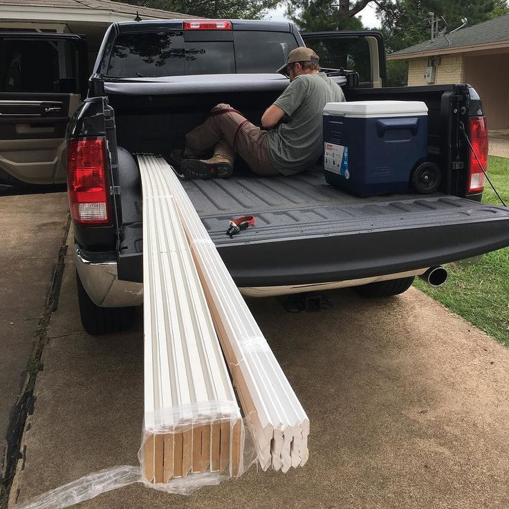 When you've got a short bed pickup and the trim is really long you leave the tailgate down and make use of multiple tie downs.  #ram1500 #ramnation #ramtrucks #shebuyscars #offroad #offroadlife #offroading #4x4offroad #4x4 #4x4life #4x4nation #adventure  #outdoors