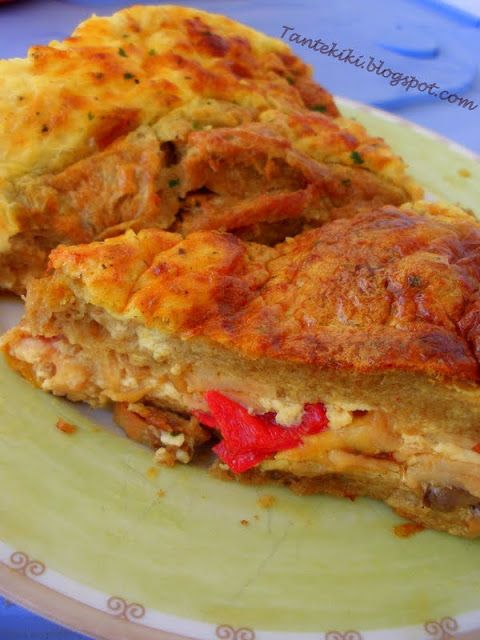 Tante Kiki: Σουφλέ ή πίτα με μανιτάρια και πιπεριές
