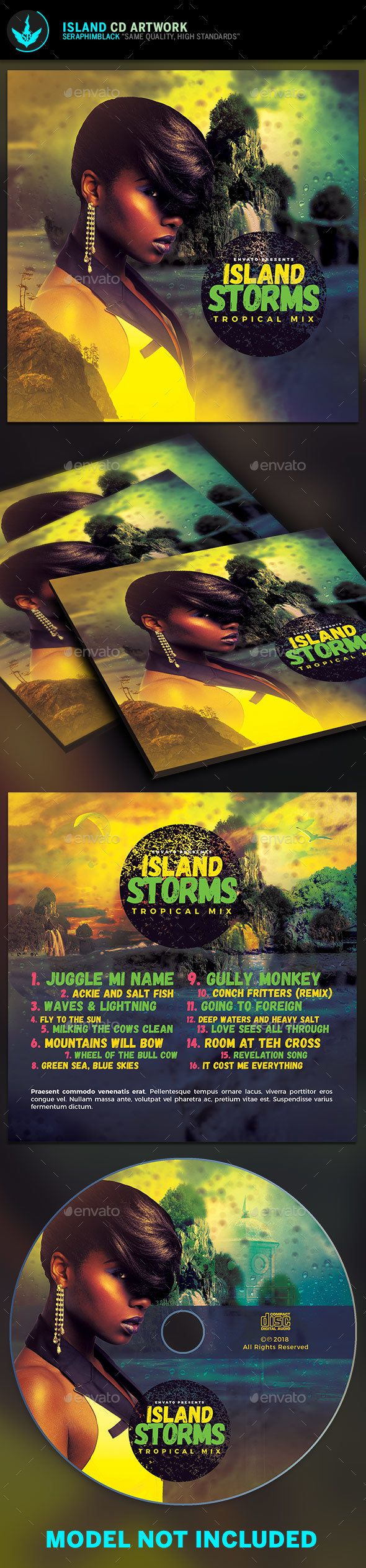 Island CD Artwork Template - #CD & #DVD Artwork Print #Templates Download here: https://graphicriver.net/item/island-cd-artwork-template/19432919?ref=alena994