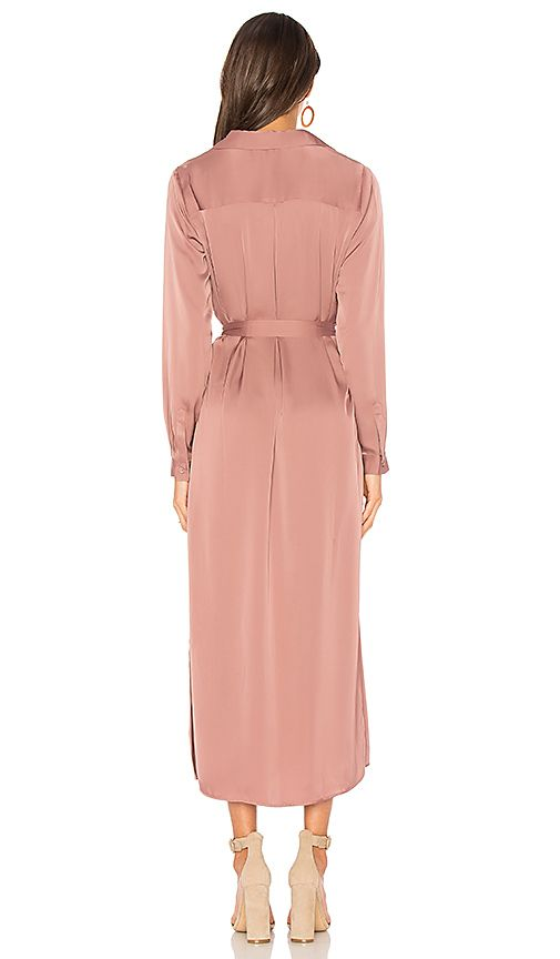 a73d1a85f58 The Long Sleeve Shirt Dress in Mauve Blush