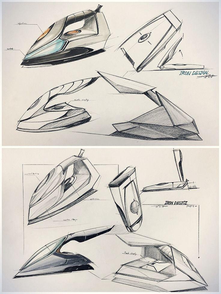 Iron concept design Color pen + Marker pen design-painting-sketch