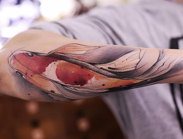 watercolor koi fish tattoo art