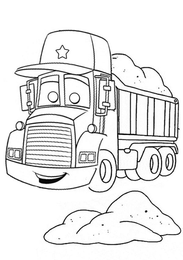 Free Online Delivery Truck Colouring Page Colouring