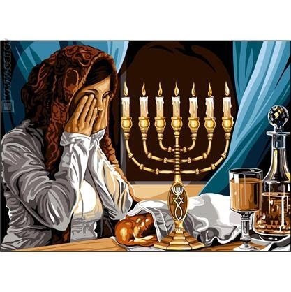 Women are regarded as being the spiritual care takers in the Jewish faith. This image shows a woman participating in her faith while interacting with different symbolic objects. These objects are giving sacred meaning through the woman's construction of value & meaning towards them.