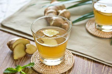 hälsodryck med ingefära och citron