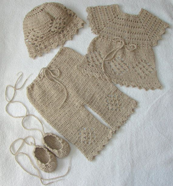 Crochet Set for Baby Girl Land Baby Boy Perfect For by Dachuks, $45.00