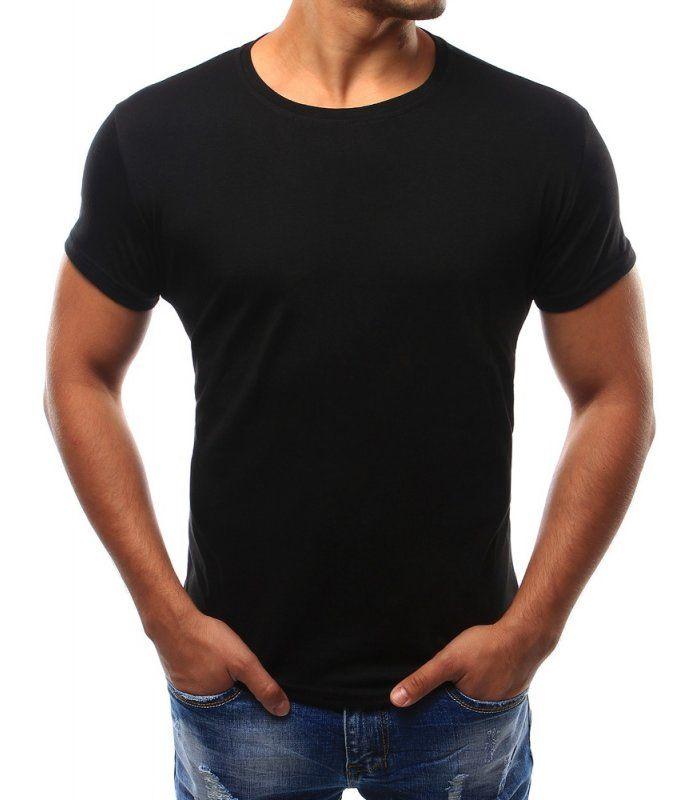 Pánske t-shirt tričko bez potlače. Čierna. Okrúhly dekolt. Vyrobené z mäkkého, na dotyk príjemného materiálu. Fantastický strih. Hit pre túto sezónu. Vhodné na každodenné nosenie.