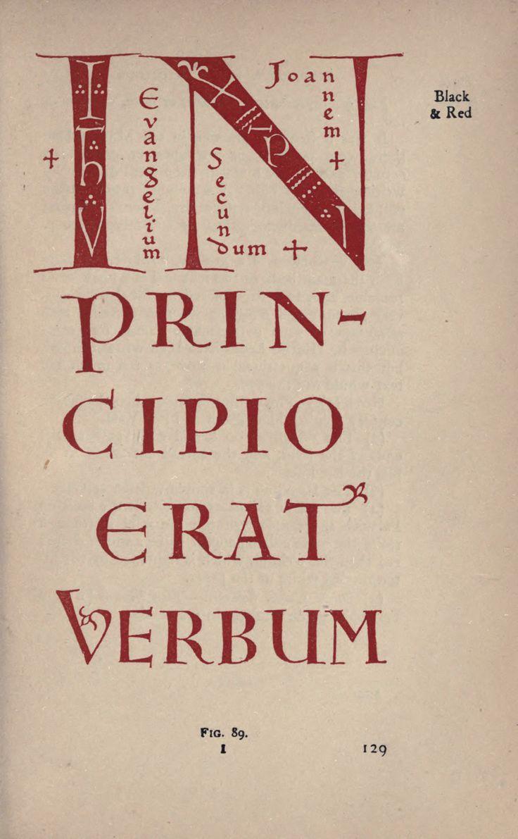 Edward Johnston, Writing and Illuminating and Lettering, 1917