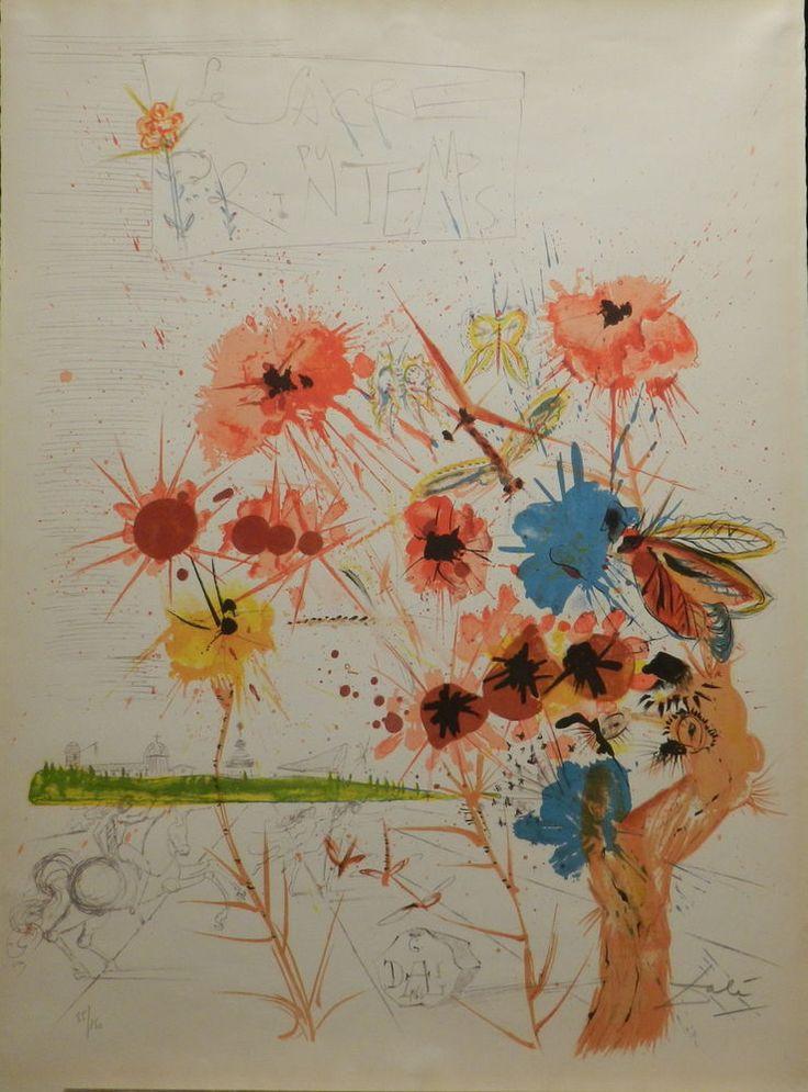 Dali Le Sacre Du Printemps Hand Signed Lithograph Dali Archives Certified | eBay