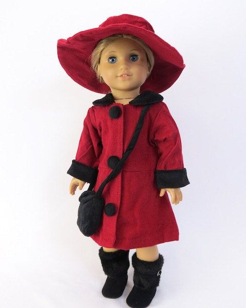Coat for the America Girl by Anniesdollyboutique on Etsy