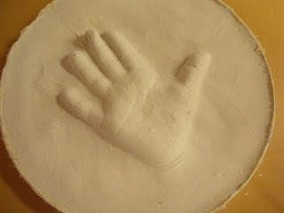 how to make the pop-out hand/foot prints (better than the sunk in ones!)