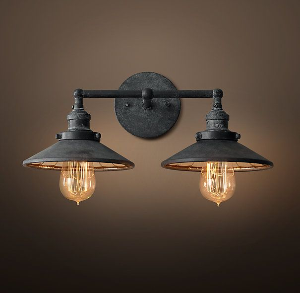 RHs WallAt Restoration Hardware Youll Explore An Exceptional World Of High Quality Unique Bath Sconces Browse Our Selection Bathroom Sconce Lights