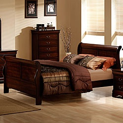 @Overstock - Madison Louis Philippe bed has a traditional design  Queen-size bed has a premium warm cherry finish  Furniture is constructed with hardwood solid and veneershttp://www.overstock.com/Home-Garden/Madison-Louis-Philippe-Queen-size-Bed/3725681/product.html?CID=214117 $545.99