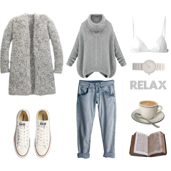 Relax by fashionlandscape on Polyvore featuring T By Alexander Wang, Converse, Braun and Rip Curl