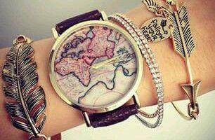 Montre mappemonde tendance 2015