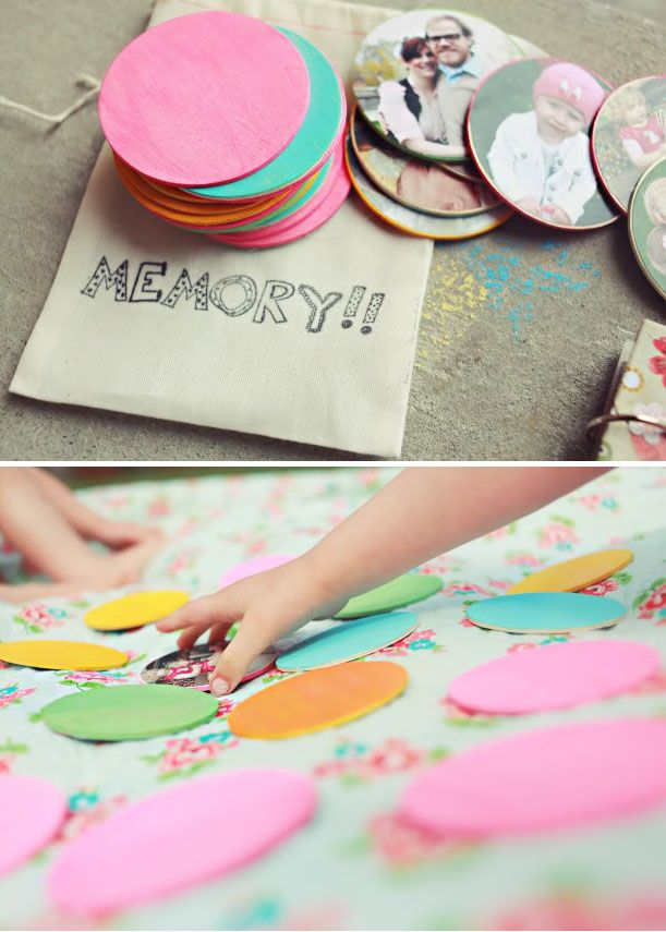 Memory game using family photos - cute kids activity @Pascale Lemay Lemay De Groof