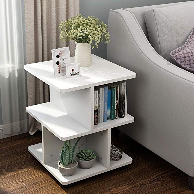 Amazon Com Little Tree Modern Side End Table For Living Room 3 Tier Bedside Table Night Stand Wit Cheap Living Room Furniture Bedroom End Tables Living Table