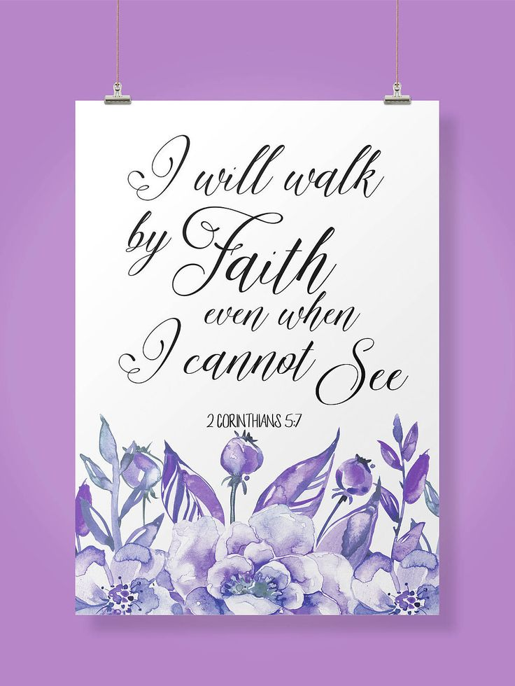 Encouragement Gift, Scripture Print Gift, Walk by faith, 2 Corinthians 5 7, Bible Verse Wall Art, Christian Wall Art, Female Bedroom Art  https://www.etsy.com/listing/581411732/encouragement-gift-scripture-print-gift?ref=listing-shop-header-0
