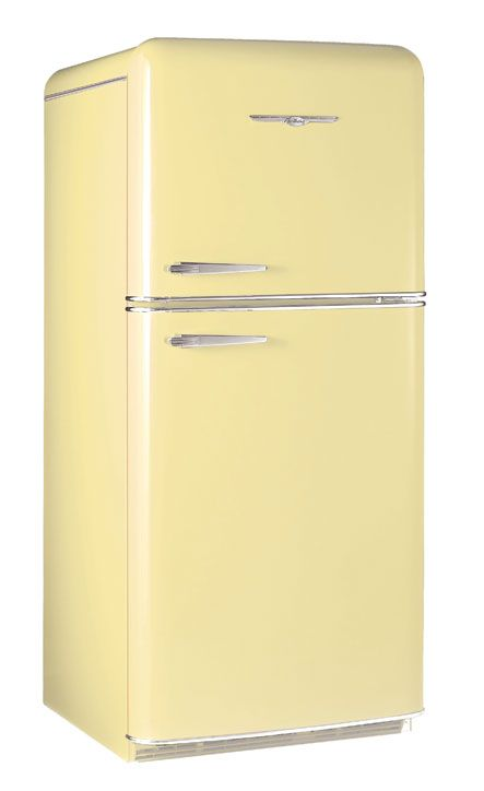 1952 Buttercup Yellow Northstar Refrigerator