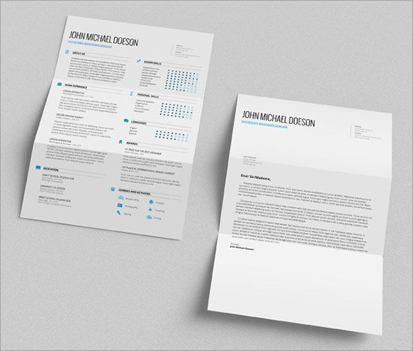 The 25+ best Simple cv ideas on Pinterest Simple cv template - resume cover letter template free