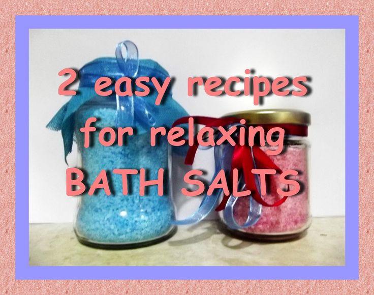 DIY - 2 easy homemade recipes for bath salts - 2 εύκολες σπιτικές συνταγ...