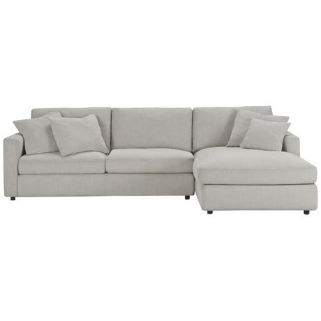 BENSON 2.5 seat fabric modular with right chaise