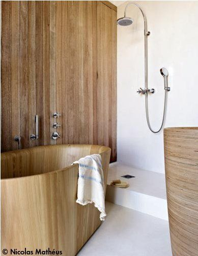 Open Shower Stall Like Wooden Spaces Espacios En Madera Pinterest