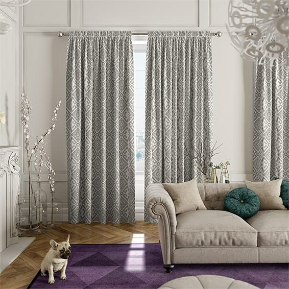 Quito Silver Grey Curtains