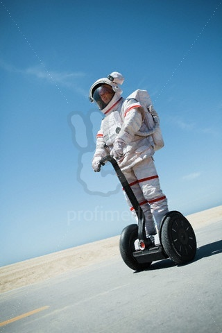 Astronaut on a segway