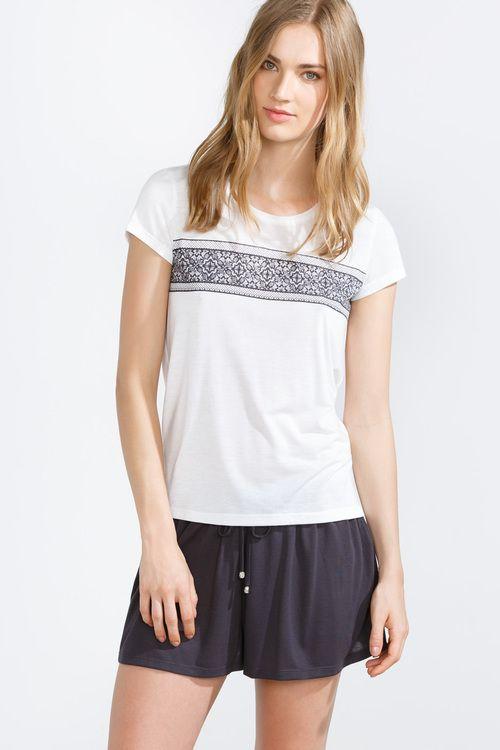 women'secret | Productos | Pijama corto con estampado de cenefa
