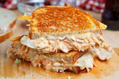The Rachel Sandwich (aka Roast Turkey Reuben Sandwich) on Light Rye with  Coleslaw