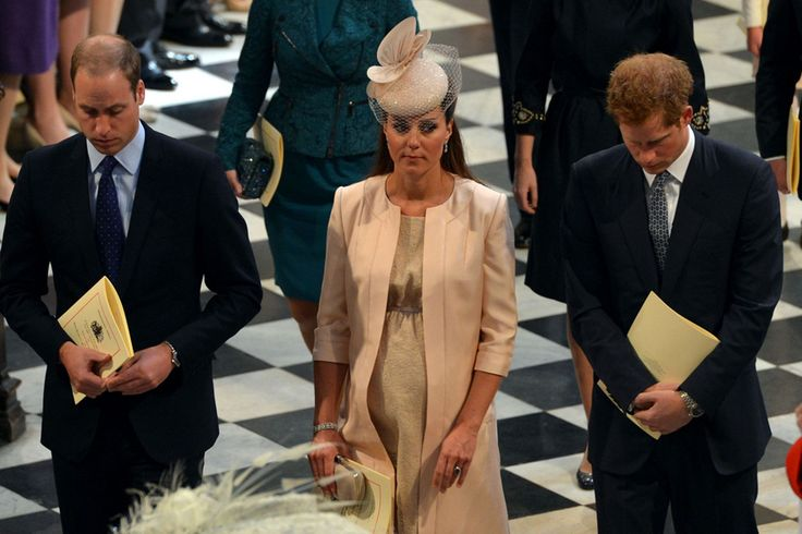 The Duke and Duchess of Cambridge and Prince Harry leave Westminster Abbey following the service to celebrate the 60th anniversary of the Coronation of Queen Elizabeth II at Westminster Abbey The Duke and Duchess of Cambridge   Check out all the latest News, Sport & Celeb gossip at Mirror.co.uk http://www.mirror.co.uk/news/uk-news/william-kate-duke-duchess-cambridge-2310729#ixzz2gD0EppAt