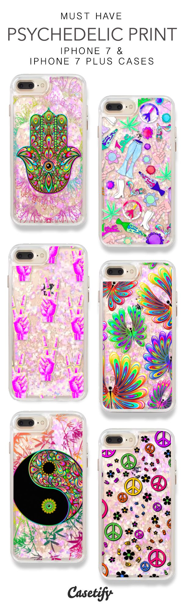 Must Have Psychedelic Print iPhone 7 Cases & iPhone 7 Plus Cases. More Protective Liquid Glitter Groovy 70s iPhone case here > https://www.casetify.com/en_US/collections/iphone-7-glitter-cases#/?vc=cYCf3LLLPW