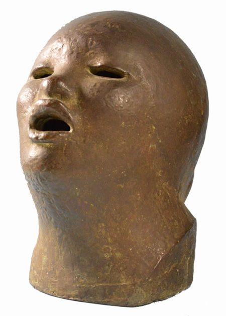 Popolana che canta [o] Il canto, 1922, bronzo, 33x20x26 // MONUMENTALE. Disegni e scultura nell'arte di Domenico Rambelli // 7 dicembre 2013 - 1 maggio 2014
