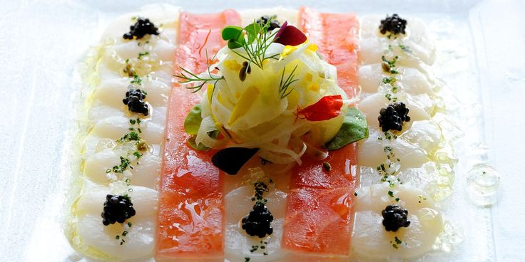 This scallop and tuna ceviche recipe by Chef Gary Jones from Le Manoir aux Quat'Saisons is a deliciously striking starter for your next dinner party