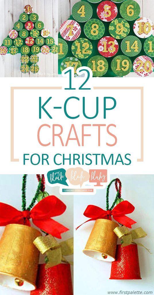 12 K-Cup Crafts for Christmas  Christmas, Christmas Crafts, Crafts for Christmas, Holiday Crafts, DIY Holiday #HolidayCrafts #Christmas #ChristmasDecor