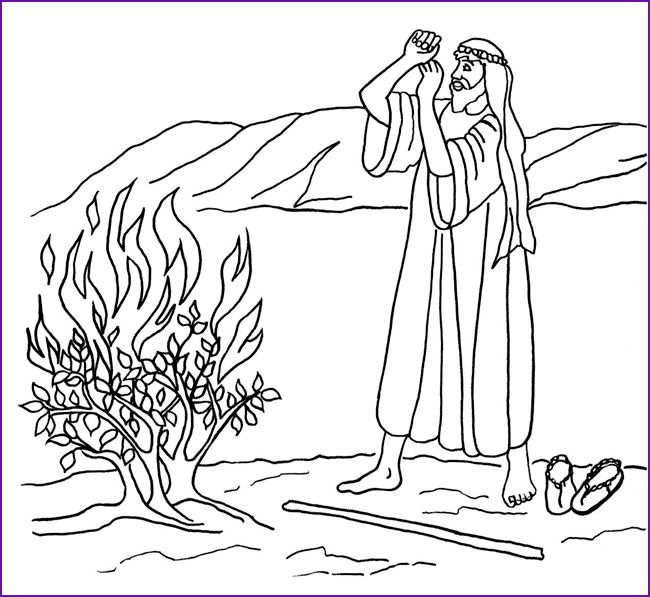 Two Coloring Pages - Moses in the Nile and The Red Sea - BibleWise