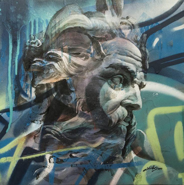 Best PICHI AVO Images On Pinterest Urban Art Graffiti - Beautiful giant murals greek gods pichi avo