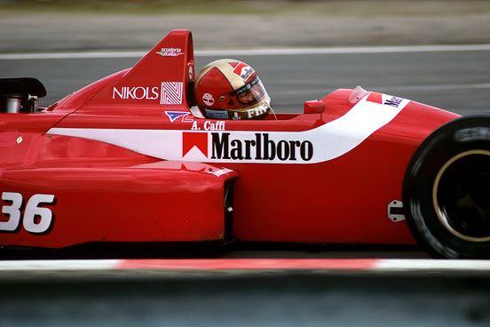 Alex Caffi Dallara-Ford F188 Belgium 1988