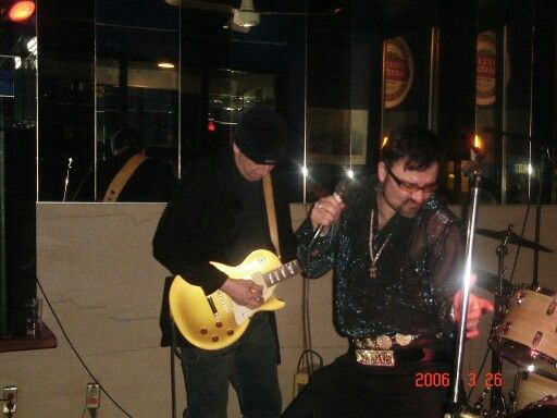 Playing at a Blues bar in Montreal