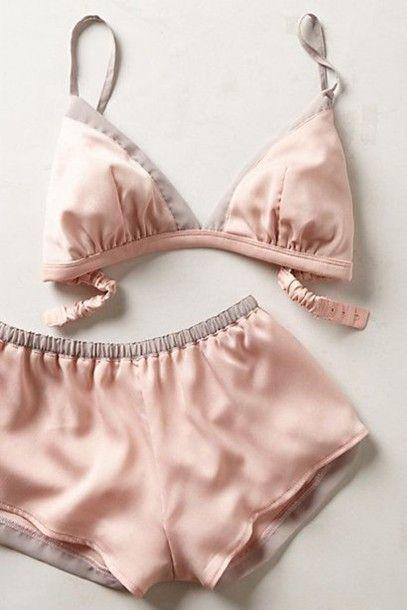 Underwear: cute two-piece pastel pastel pink lingerie set girly wishlist all pink wishlist