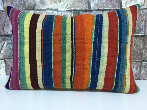 turkis pillow anatolian kilim pillow handmade by laviaart on Etsy