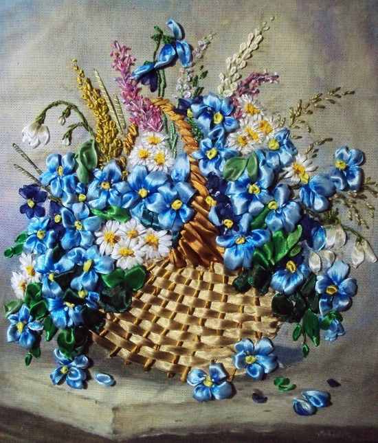 Basket of flowers. By Tetiana Korobeinyk of Foggie, Italy...MAGNIFICENT
