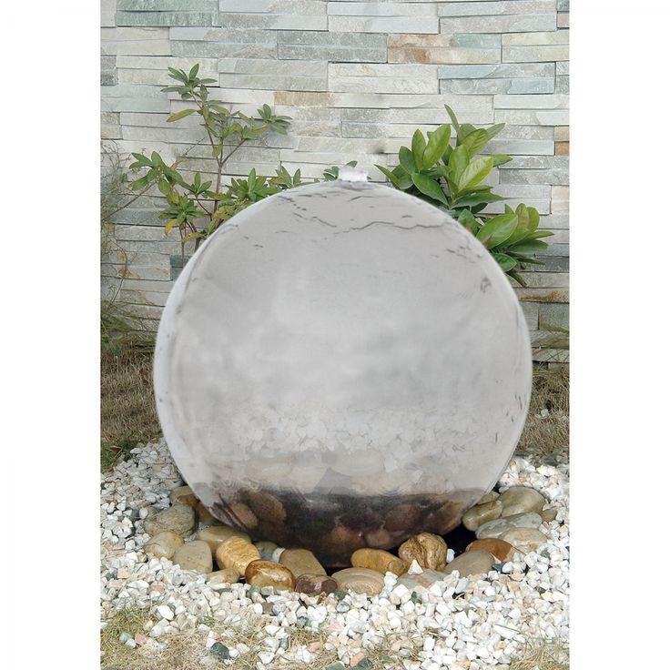 Verlichte fontein - kunststof zilverkleurig 40cm 4 lichtbronnen