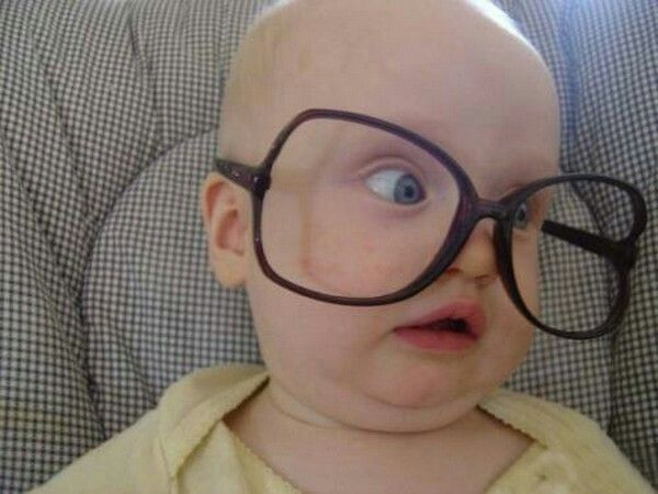 a4dfc4ea8b215 Okay who can resist a baby in funny glasses I can t. This is my baby Esmé  in big funny glasses.